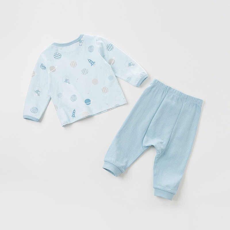 DBH11348 דייב bella פיג 'מה סט לילדים סתיו בני ילדים בית בגדי קריקטורה שרוול ארוך תינוק הלבשת חליפה