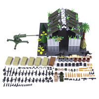 598Pcs Military Theme DIY Small Particle Building Block Shooting Scene Toy Kit For 100% Building Block Brands Large Warehouse