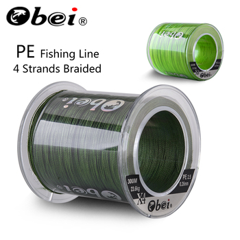 Obei 300M 500M PE Fishing Line 4 Strands Braided  Multifilament Fishing Line Smooth Sea Softwater Line 10-120lb josby 4 braid fishing line 10 120lb 150m 300m 500m 1000m 4 strands braid fishing line multifilament fishing wire carp fishing
