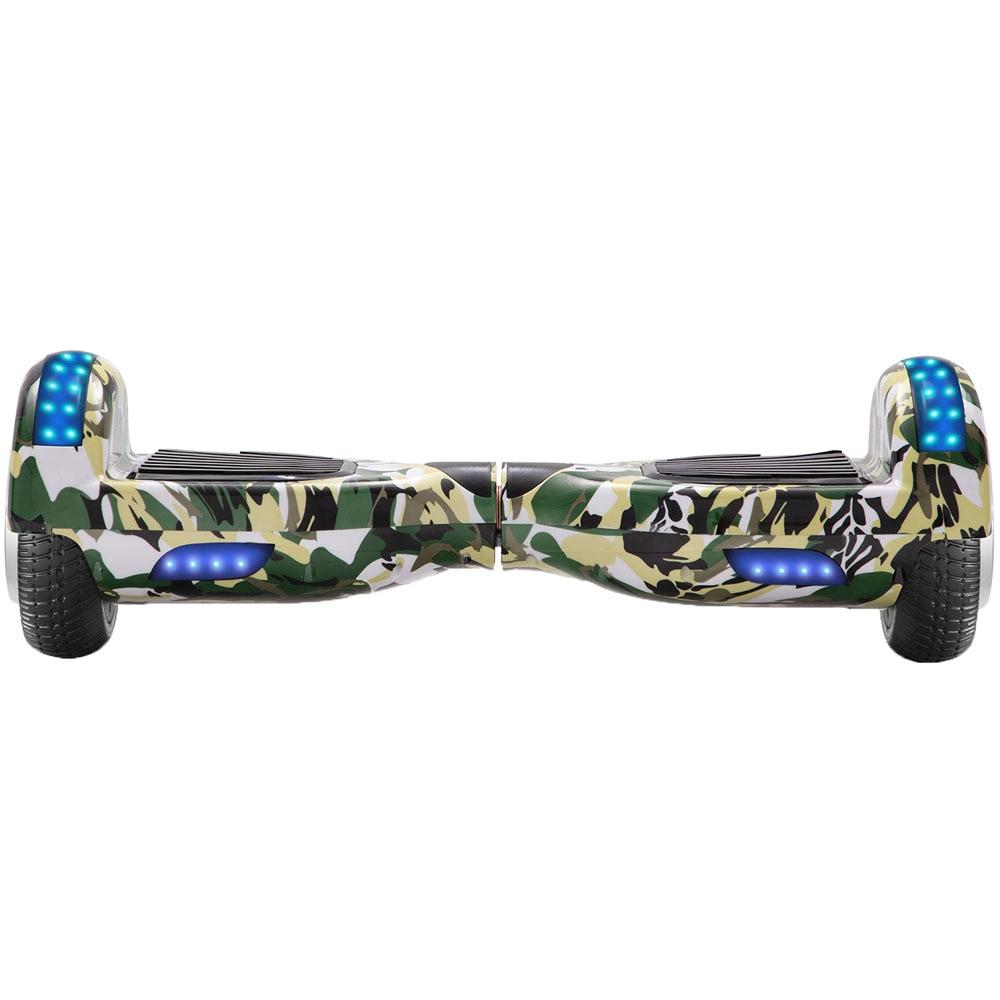 Zelfbalancerende Scooter 6.5 Inch Groen Camouflage 2 Wielen Elektrische Hoverboard Balance Board Voor Kids Geschenken Led Bluetooth + sleutel + Tas - 4