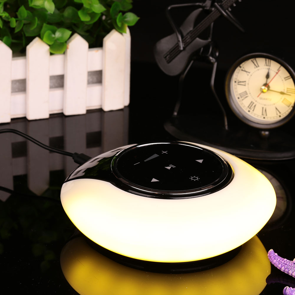 Portable Moon Shape Bluetooth Wireless Speaker Light Luminous Table Lamp Outdoor