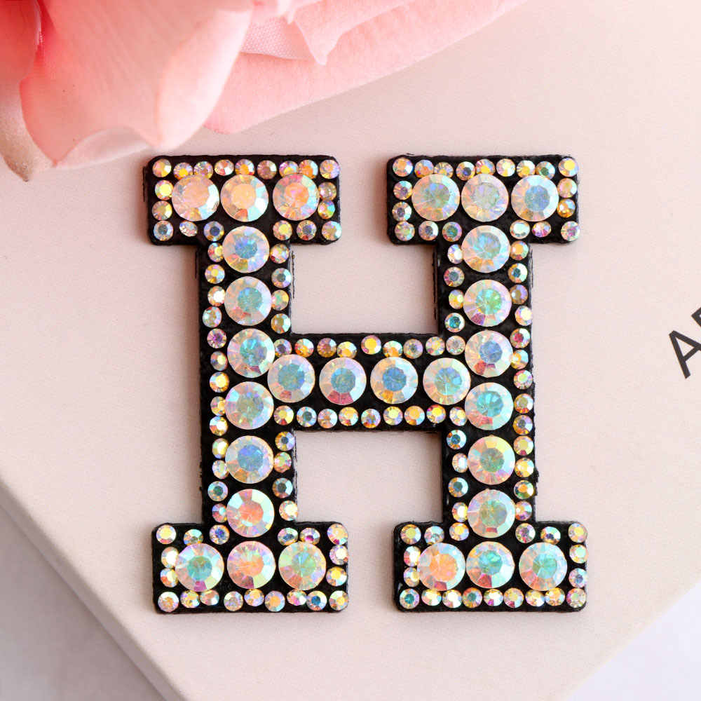 Crafts Sew on patch Applique Sequin Numbers Iron on Patches Badge