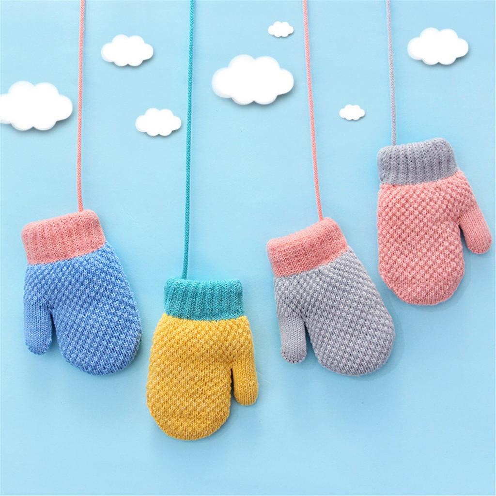 Children's Gloves, Women's Winter Plus Velvet, Warm 2-4 Years Old Kindergarten Winter Gloves Handschoenen Перчатки Мужские