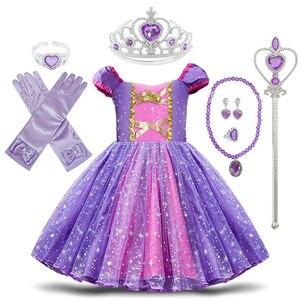 Image 1 - פעוט תינוק בנות רפונזל סופיה נסיכת תלבושות ליל כל הקדושים קוספליי בגדי מסיבת פעוט תפקידים לשחק ילדים מפואר שמלות לילדה