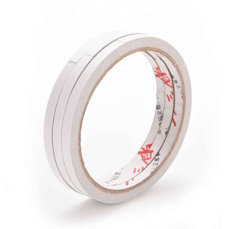 흰색 6mm x 10m 강력한 접착제 양면 테이프 스티커 office 편지지에 대 한 경제적이 고 실용적인 scrapbooking 마스킹