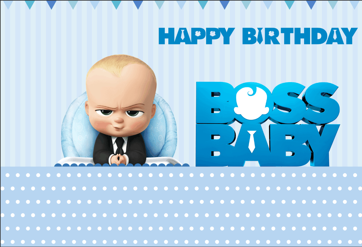7x5ft Light Blue Stripes Happy Birthday Boss Baby Party Custom Photo Studio Backdrops Backgrounds Vinyl 220cm X 150cm Background Aliexpress