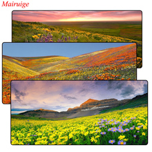 Valley Of flowers Gaming Mouse Pad Locking Edge Large Mat PC Computer Laptop pad for CS GO dota 2 lol