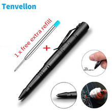 Tenvellon caneta de autodefesa tática, aço de tungstênio, ferramenta de proteção pessoal e defesa, pacote simples