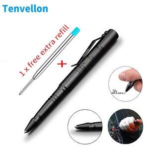 Image 1 - Tenvellon caneta de autodefesa tática, aço de tungstênio, ferramenta de proteção pessoal e defesa, pacote simples