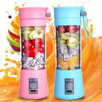 Portable Electric Juicer Blender USB chargable Mixer Machine Smoothie Lemon Squeezer Orange