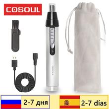 Akumulator trymer do włosów w nosie elektryczna maszynka do strzyżenia włosów w nosie usuwanie maszynka do golenia maszynka do brwi depilatory wysokiej jakości tanie tanio COSOUL CN (pochodzenie) Trymer do nosa i uszu N9 Pro Top Grade Alloy Rechargeable Nose Hair Trimmer