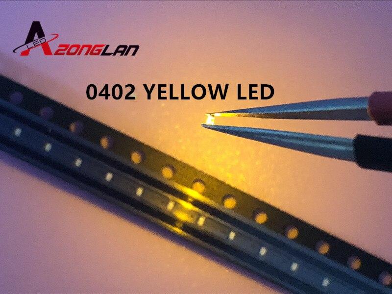 100Pcs 0402 1005 White SMD LED Diodes SMT Bright Light Lamp Emitting Beads Buld