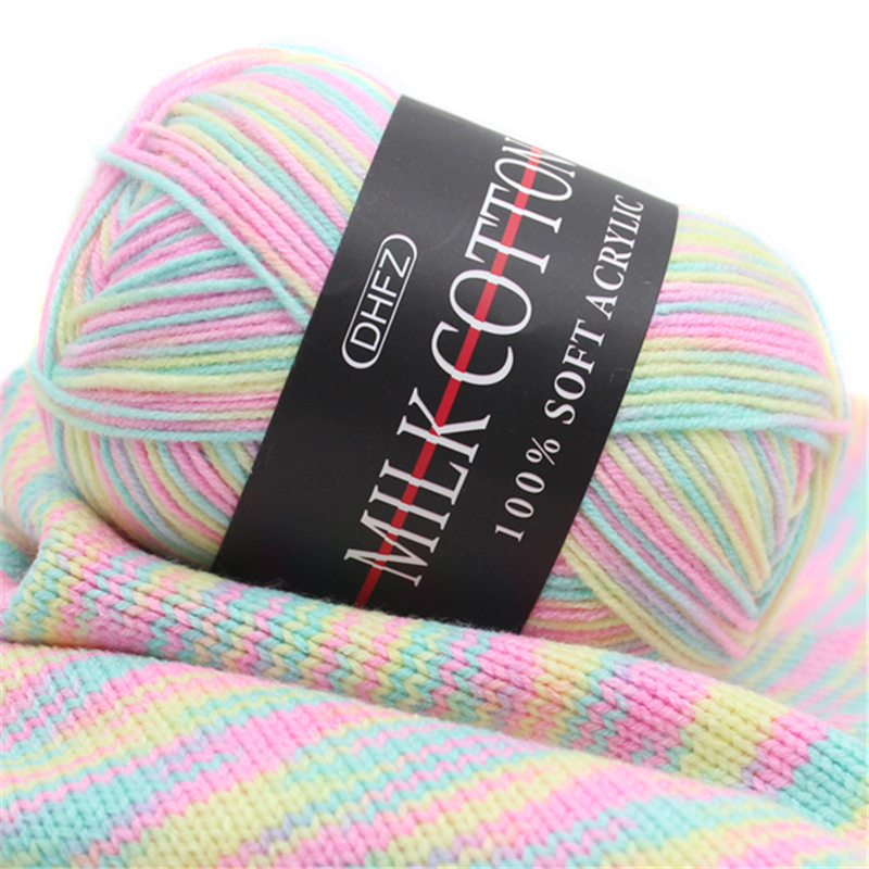 1pc Melange Yarn Ring Worsted Blended Knitting Yarn for Knitting Colorful Fine Dye 50g/pc-in Yarn from Home & Garden