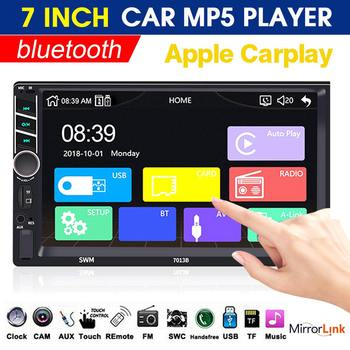 7013B 7 Inch 2Din WINCE Car Radio Stereo Head Unit MP5 Player bluetooth Hands-free FM USB RCA Support Rear View Camera Function