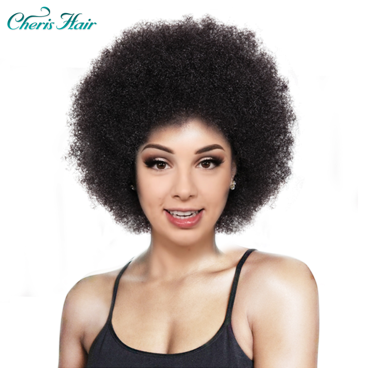 Synthetic Wig Afro Women Short Fluffy Hair Wigs For Black Women Kinky 12 Inch For Party Dance Cosplay Wigs With Bangs