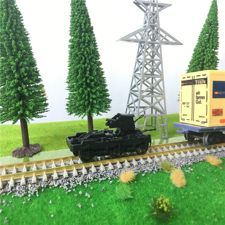 8pcs HO Train Model Accessories Scale 8:8 Electric Chassis Bogies Model  Building Kits