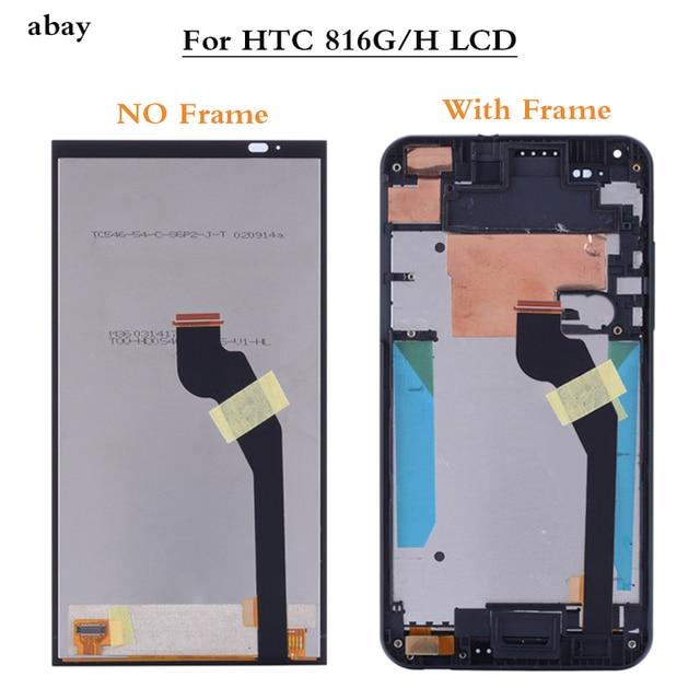 Display a Cristalli Liquidi per HTC Desire 816G 816H Lcd Screen Display con Touch Digitizer Assembly con Telaio per HTC 816G 816H di Ricambio