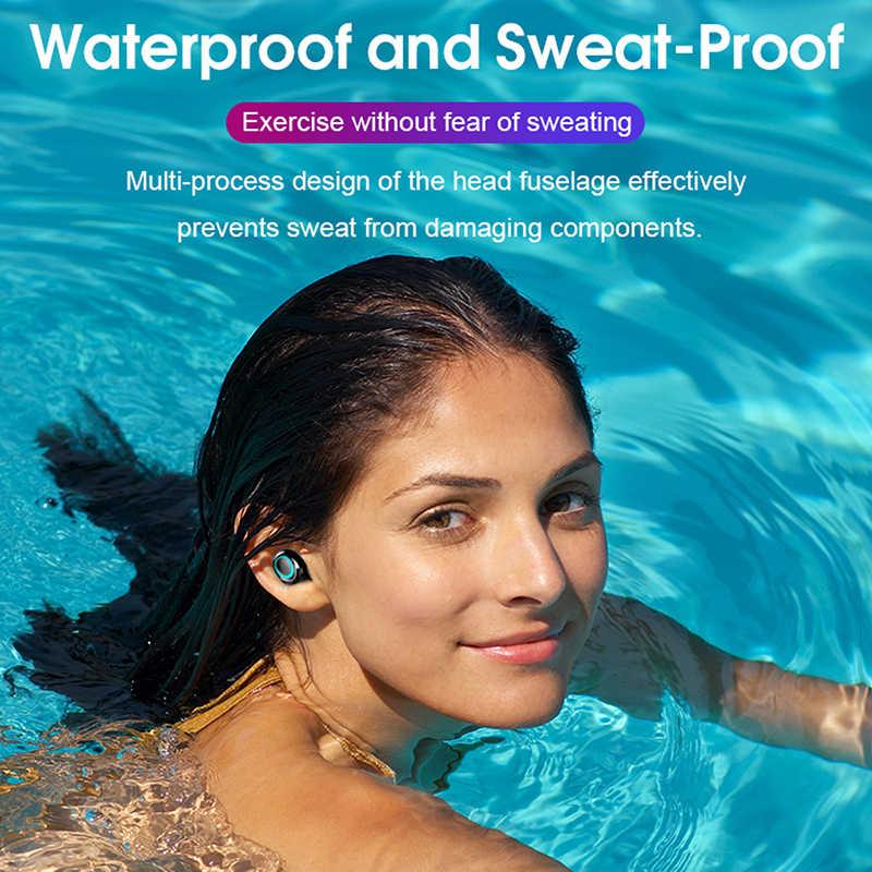Hembeer Bluetooth Draadloze Hoofdtelefoon Met Microfoon 3500Mah Waterdichte Oordopjes Hifi Stereo Noise Cancelling Headset Oordopjes