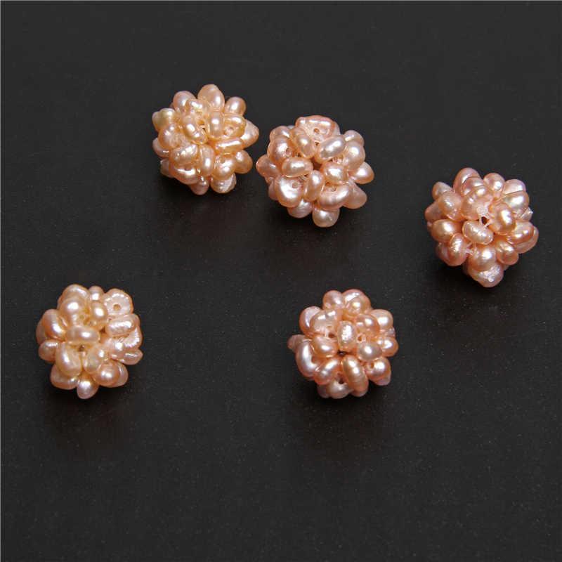 2pcs ไข่มุกน้ำจืดธรรมชาติดอกไม้บาร็อคสีขาว Handmade ไข่มุกลูกปัด Charm สำหรับเครื่องประดับทำ Accessries