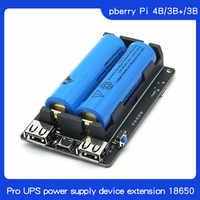 El dispositivo de fuente de alimentación Original de 18650 UPS Pro amplió dos puertos USBA para Raspberry Pi 4 B/3B +/3B, no incluye la batería 18650
