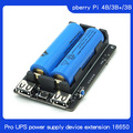 Original 18650 UPS Pro Power Supply Device Extended Two USBA Port for Raspberry Pi 4 B / 3B+ /3B, Not Include 18650 Battery
