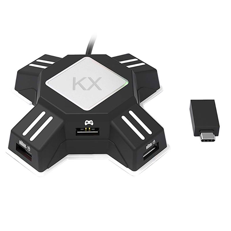 KX Conversion Box Switch / Xbox / PS4 / PS3 Game Handle Keyboard and Mouse Adapter Applicable to FPS / TPS / RPG / RTS Games image
