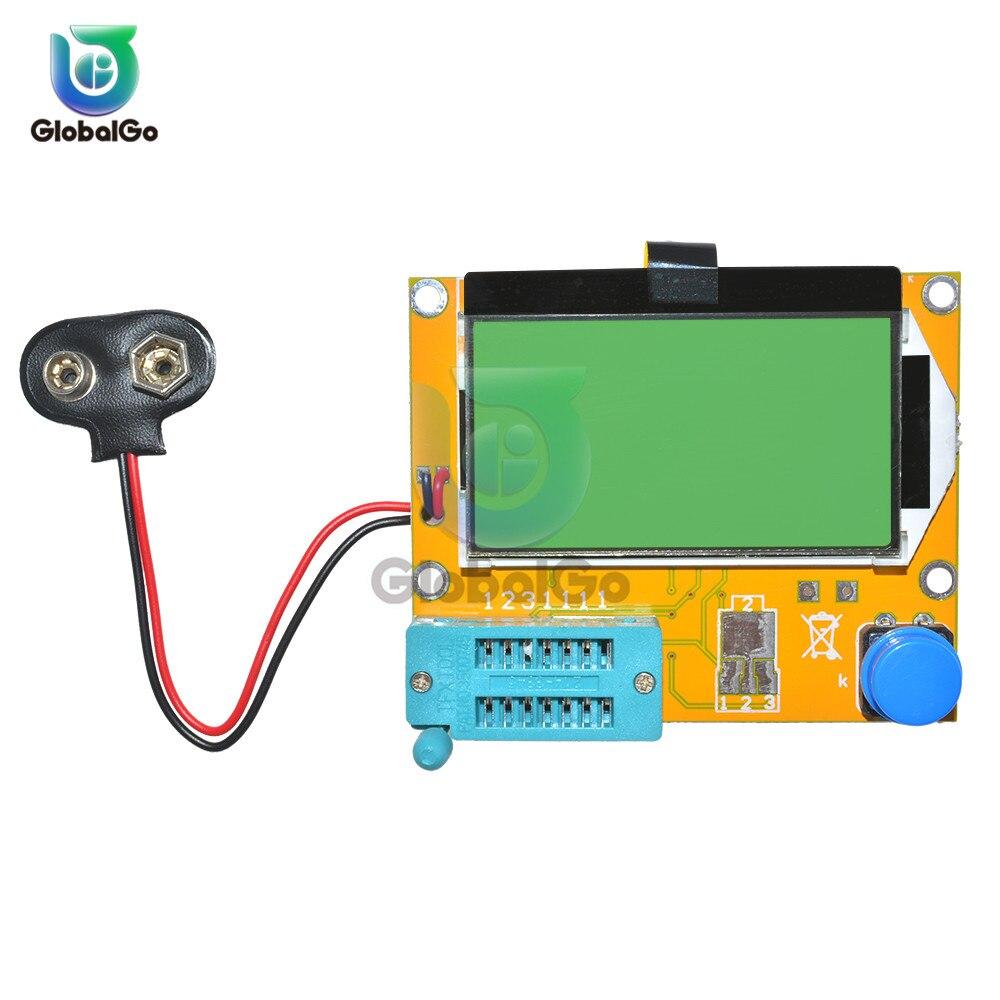 Medidor de Esr Tela Multímetro Transistor Tester Diode Triode Capacitância Esr Medidor Mos Pnp Npn Lcr-t4 Mega328 Lcd