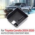 Smabee автомобильный центральный подлокотник коробка для хранения для Toyota Corolla 2019 2020 аксессуары для центральной консоли черная коробка для мо...
