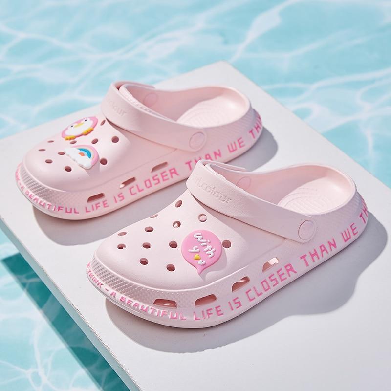 Women's Sandals red Lady Girl Sandals Summer Women Casual Jelly Shoes Sandals Hollow Out Mesh Flats Beach Flats Sandals