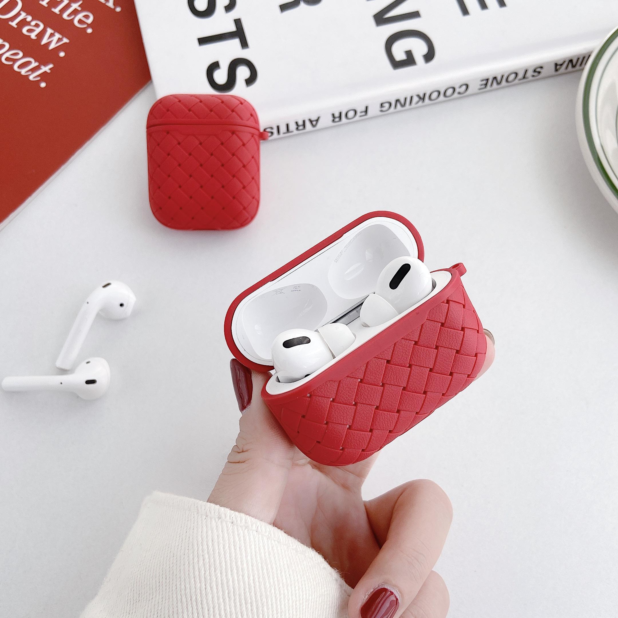 Чехол для наушников apple airpods pro/2 мягкий кожаный чехол