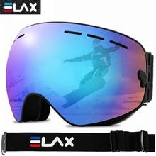 ELAX Women Men Ski Goggles Double Layers Anti-Fog Snowboard Skiing Glasses Snowmobile Sunglasses Winter Snow Sport Eyewears
