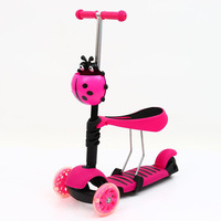 Three in One Children Scooter Box Children Three Wheel Scooter CHILDREN'S Scooter Baby Walker Manufacturers Direct Selling