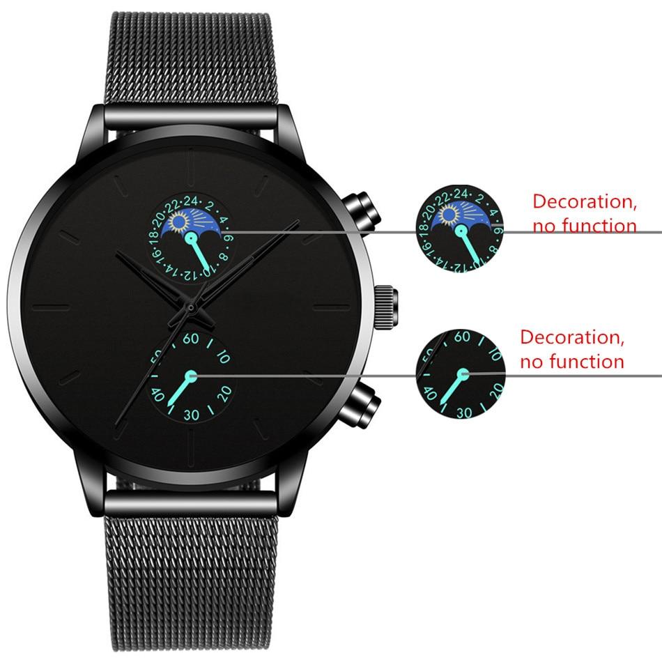 Hb596aaa5cf874b69936d400edfb40d03Q Fashion Mens Business Black Watches Luxury Stainless Steel leather Belt Watch Quartz Men Wrist Watch Relojes Hombre