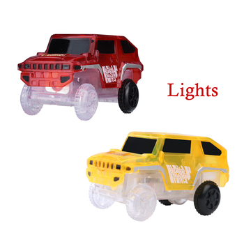 Electronics Special Car for Magic Track Toys With Flashing Lights Educational Plastic Fun Kid Car Traffic toy black friday deals image