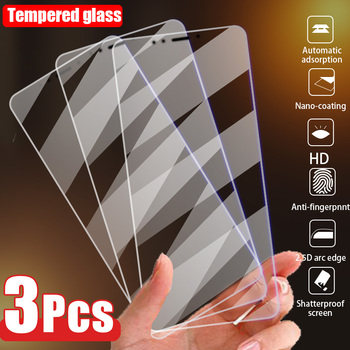3PCS Screen Protector Glass for iPhone 12 11 Pro Max X XS XR 5 5S SE Tempered Glass for iPhone 7 Plus 8 6 6S 12 Mini Phone Glass 1