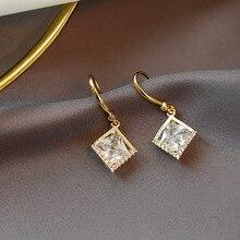 Sparkling Zircon Geometric Drop Earrings For Women Gold-Color Classic 2020 New Jewelry Earings Wholesale