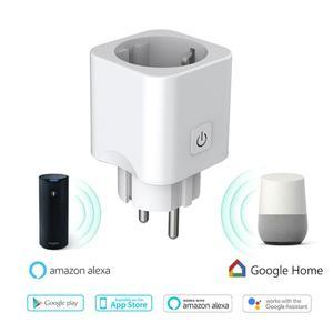 Teekar умный дом стандарт ЕС беспроводной wifi Пульт дистанционного управления розетка синхронизации умная розетка питания работает с Alexa Google ...