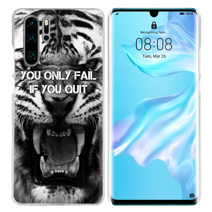 bb247dc49d15 US $1.66 43% OFF|Tiger Leopard Print Case for Huawei Mate 30 20 10 P20 P30  Lite Pro P Smart Y9 Prime 2019 Honor 8A 8X 10i PC Phone Cover Bags-in ...