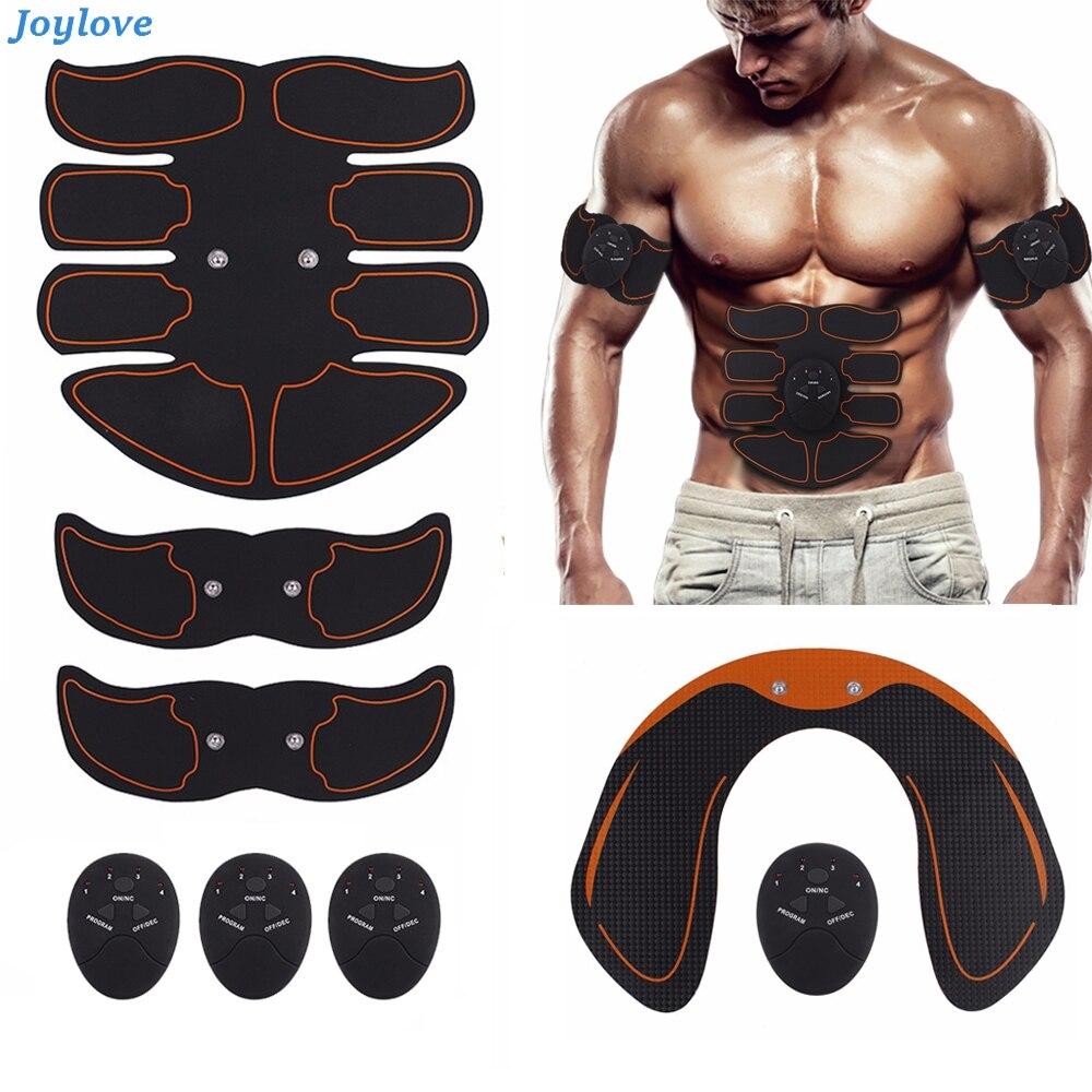 JOYLOVE Hip Abdominal Exerciser Muscle Stimulator Trainer Electric Vibrating Slimming Belt Fitness Massager Buttocks ABS Machine