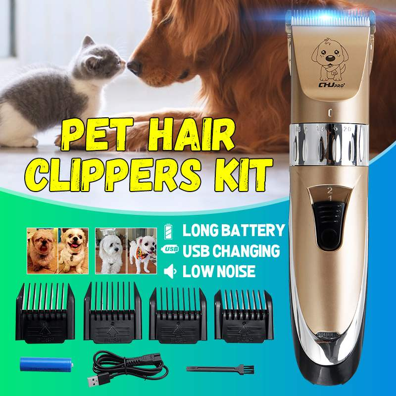 Pet-Shaver Trimmer Dog-Clippers Cordless Pet-Grooming-Tool Hair-Cutter Animal No Cat
