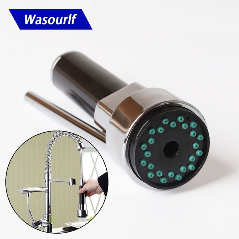 WASOURLF Faucet Sprayer Kitchen Faucet Nozzle With Switch Shower Head Chrome Tap Pull Out Replacement Faucet Aerator Accessories