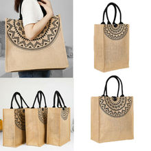 цены Reusable Shopping Bags Women Foldable Tote Bag Portable Cloth Eco Grocery Bag Folding Large Capacity Handbags