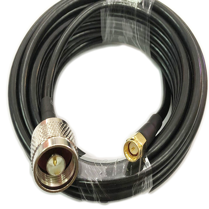 2m 5m 10m RG58 Coaxial Cable SMA Male To N Male Connector RF Adapter 50-3 Cable 50ohm 15/20/30m