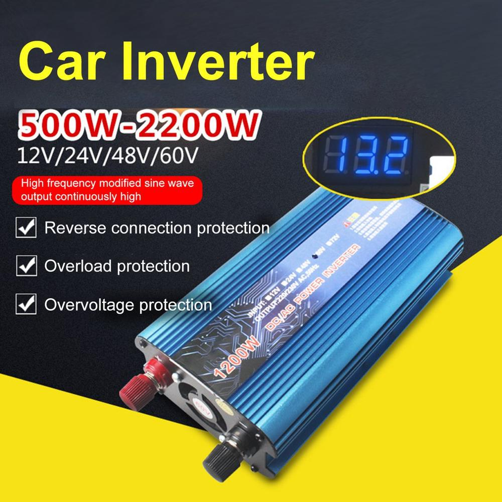 Car Solar Inverter DC 24V to AC 220V 500W Inverter Voltage Transformer Converter with USB LED Display|Car Inverters| |  - title=