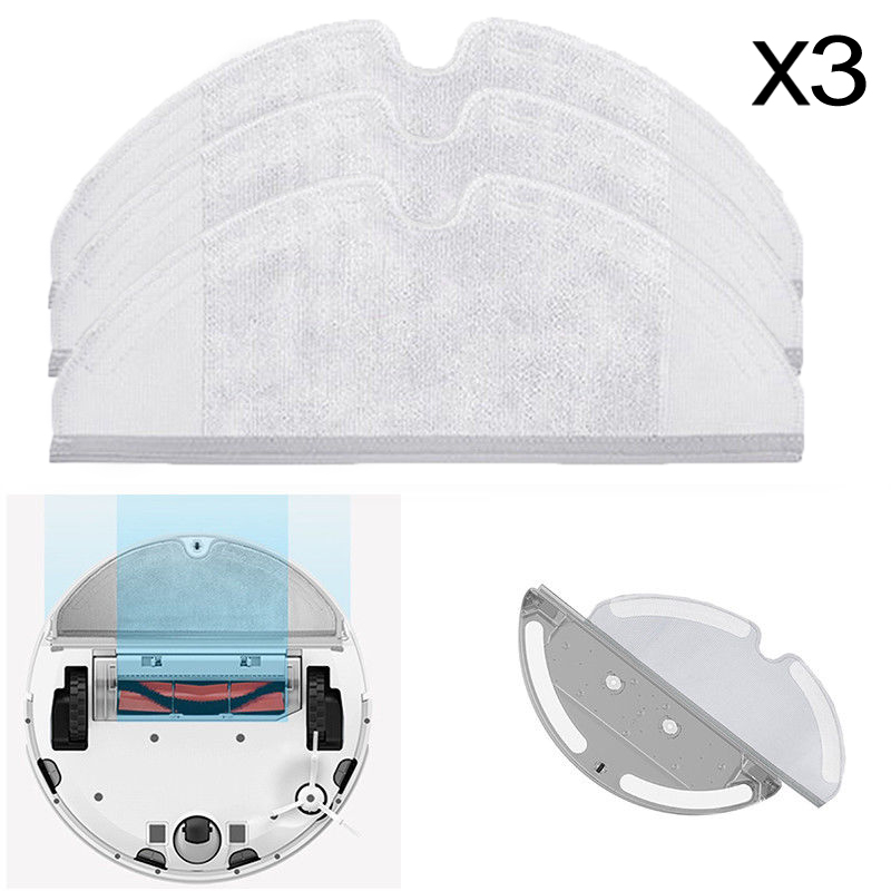 3pcs Dry Wet Rag Mop Cloths Clean Tool For Roborock S50 Xiaomi Vacuum Cleaner Dust Cleaning Mop Home Floor Clean Up Robot Parts