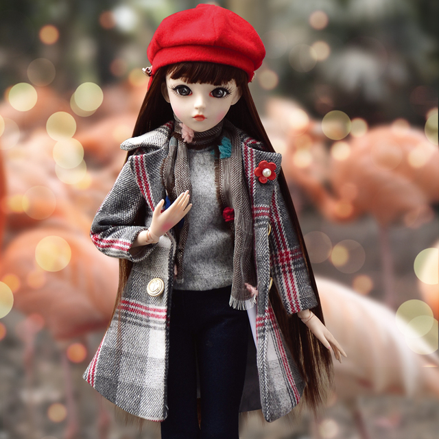 60cm BJD Doll Fashion Girl Doll SD Doll 18 Ball Jointed dolls Fashion Doll as Gift