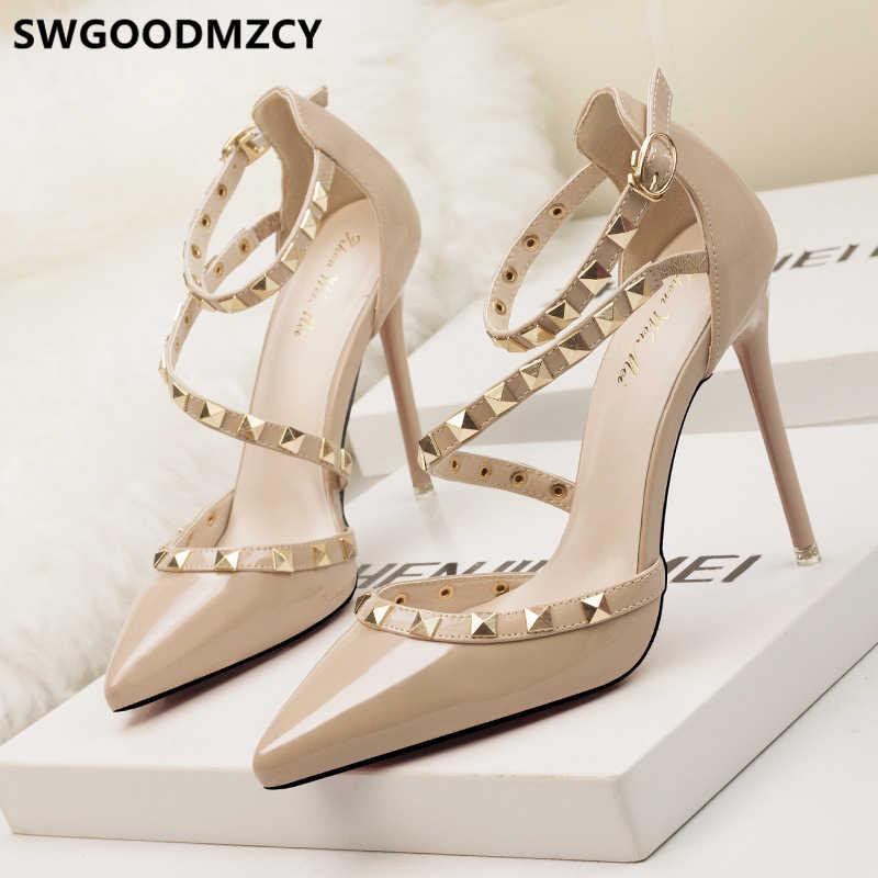 Mary Jane scarpe estremo tacchi alti di san valentino scarpe fetish di alta tacchi a spillo scarpe eleganti per la donna sexy degli alti talloni tacones
