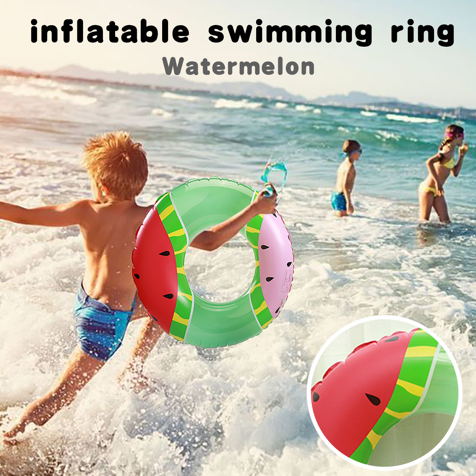 piscina infantil Swimming Ring Fruit Pool Float Watermelon Swimming Ring Summer Outdoor Party для плавания piscine gonflable
