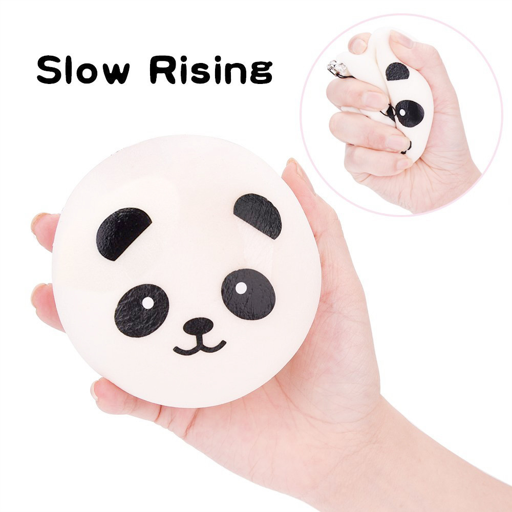 Squishy Toy Soft Slow Rising Toy Panda Face Bread Elastic Toy Kid Fun Gift Bag Key Decorations Toys For Children #A