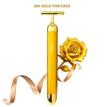 2018 Hot Slimming 24k Gold Vibration Face Roller Massager St